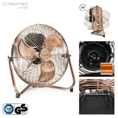TROTEC Bodenventilator TVM 11 Windmaschine Lüfter Metall 37 Watt 30 cm