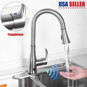 motion faucet kitchen nook lighting sensor ebay touch automatic pull spray sink tap single handle