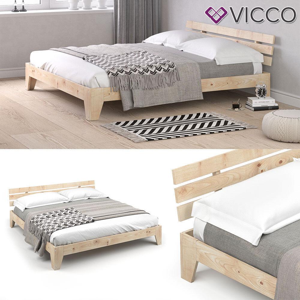 VICCO Holzbett Tilos Futonbett 180x200cm Kiefer Doppelbett Bett Massivholz Lack