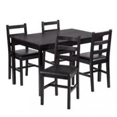 Used Kitchen Chairs Wall Hanging Ideas Table Buy Or Sell Dining Sets In New 5 Pcs Set Dark Brown 4 Ds47