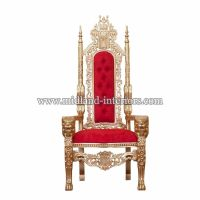 NEW Lion King Queen Wedding Throne Chair - Gold & Red ...