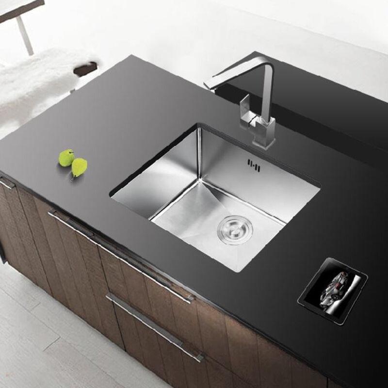 square kitchen sink tops cabinets stainless steel inset single bowl reversible drainer uk