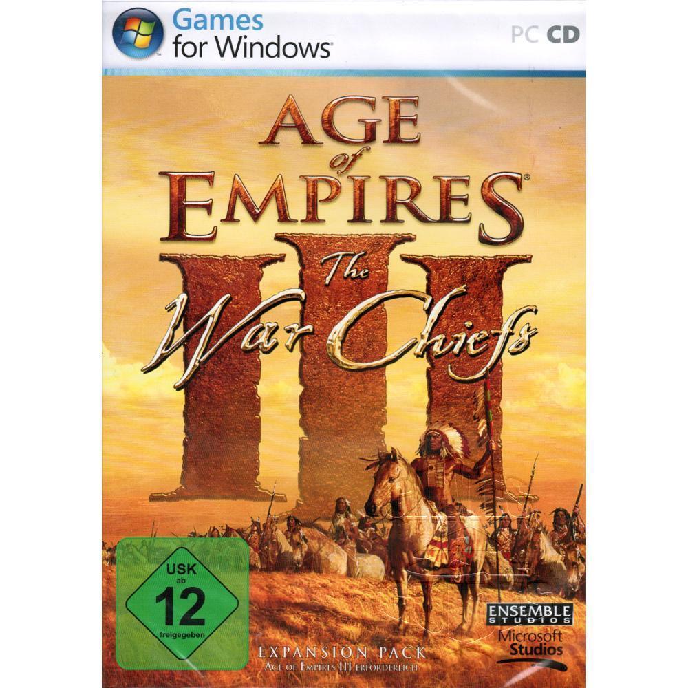 Age of Empires 3 AoE III War Chiefs AddOn Expansion Pack CD für PC, NEU&OVP