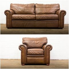 Genuine Leather Sofa Uk Pull Out Sectional Nice Quality Furniture Brown Armchair Suite Free Delivery