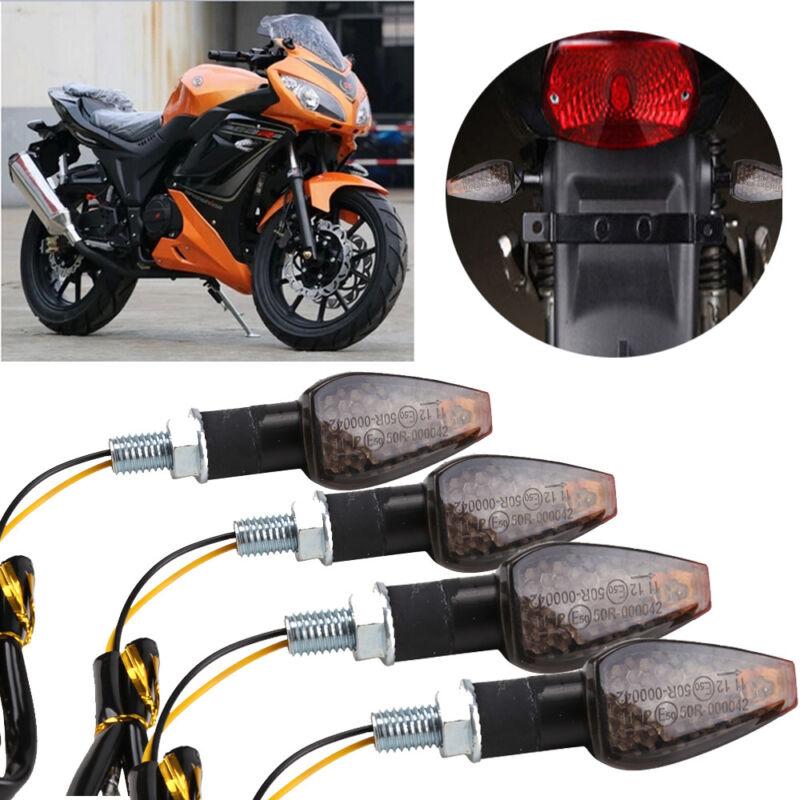4stk LED Motorrad Blinkleuchte 12V 12LED MiniBlinker Signallicht Rollert Licht