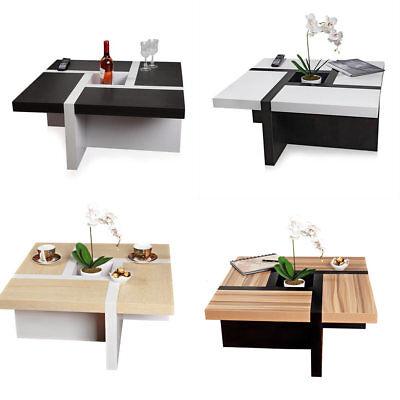 Couchtisch Beistelltisch Wohnzimmertisch Tisch Designertisch Weiß Schwarz Braun