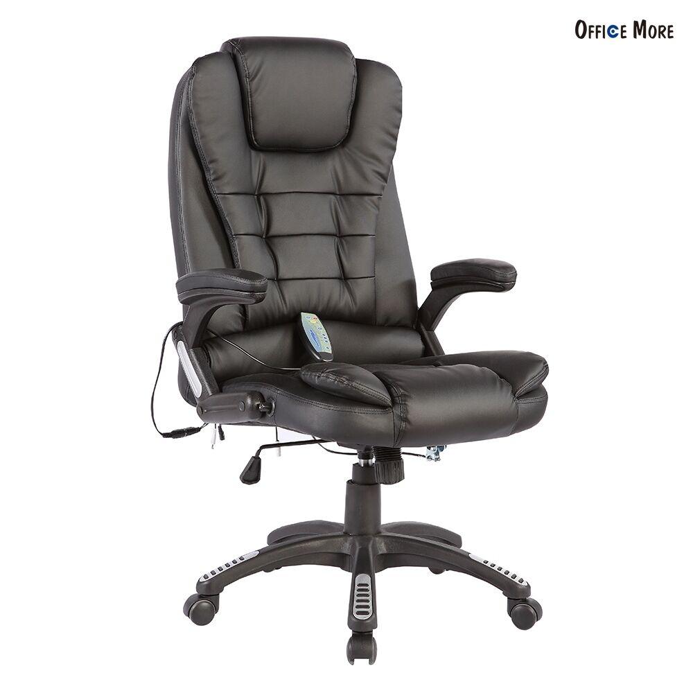 Heated Vibrating Executive Office Massage Chair Ergonomic