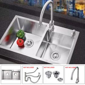 30 kitchen sink cart on sale undermount double ebay x16 bowl stainless steel mount dual basin
