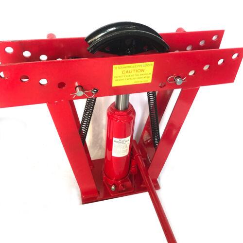 (12) Ton Hydraulic Pipe Bender Tube Tubing Exhaust Tube