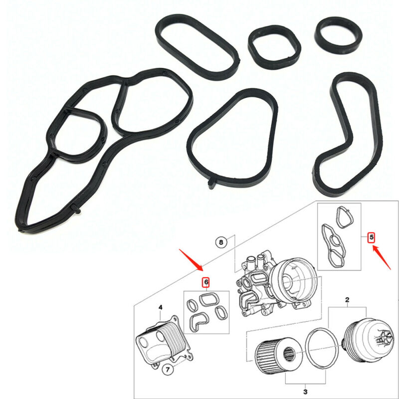 For 07-16 Mini Cooper Oil Filter Stand Housing Seal Gasket