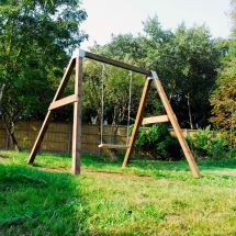 Diy Garden Swing Set Brackets - Wooden Frame Outdoor Kids