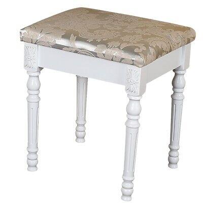 Sitzhocker Polsterhocker Sitzbank Hocker Schminktischhocker Design floral weiß