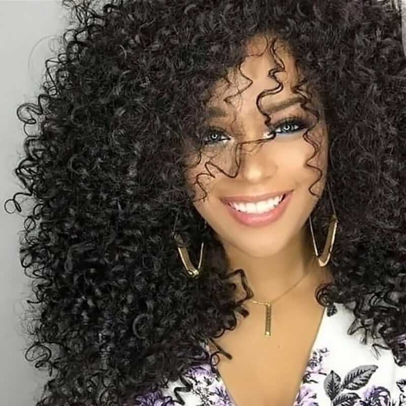 Long Full Wavy Front Lace Wig Afro Kinky Curly Natural Hair Wigs