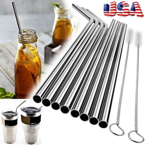 10.5 Stainless Steel Straws | Easy To Clean and Reusable‎ 2