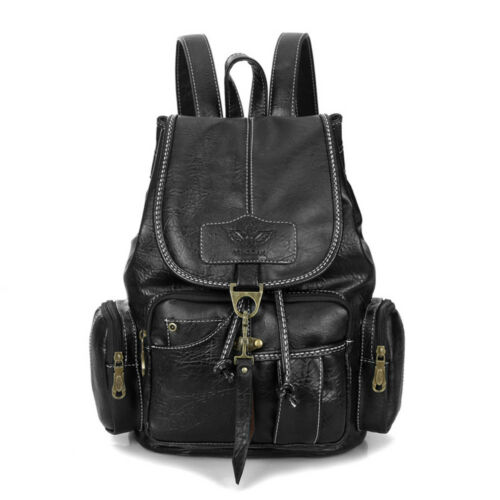 Vintage Womens Leather Backpack Shoulder School Shoulder Satchel HandBag Travel 8