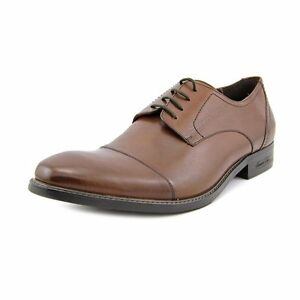 Kenneth Cole New York Men's Mason Jar Leather Oxford-Cognac