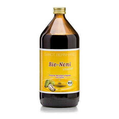 Sanct Bernhard Bio-Noni-Vitalsaft, 1 Liter Direktsaft aus Morinda citrifolia