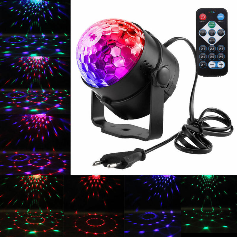 LED RGB Bühnenbeleuchtung DJ Lampe Discokugel Laser Projector Lichteffekte Party