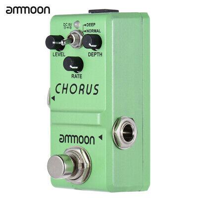ammoon LN-304 Guitar Effect Pedal Analog Chorus True Bypass Alloy M1C4