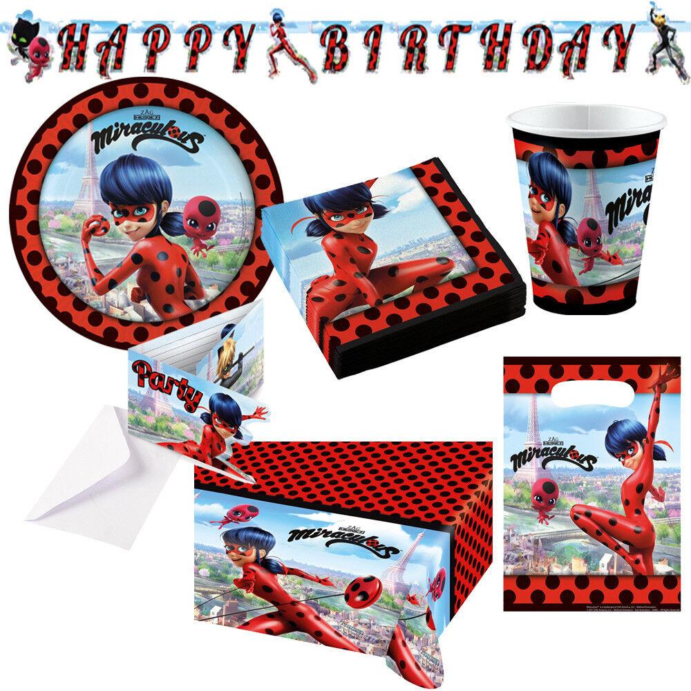 Ladybug Miraculous Kindergeburtstag Auswahl Deko Party Dekoration Geburtstag NEU