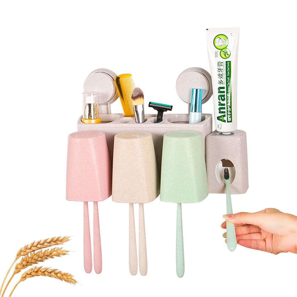 neu Zahnpastaspender Zahnbürstenhalter Zahnbürste ohne Bohren selbstklebend DE