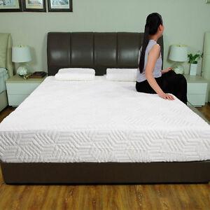 10 Inch Full Size Cool Medium Firm Memory Foam Mattress 2 Free Pillows Cover