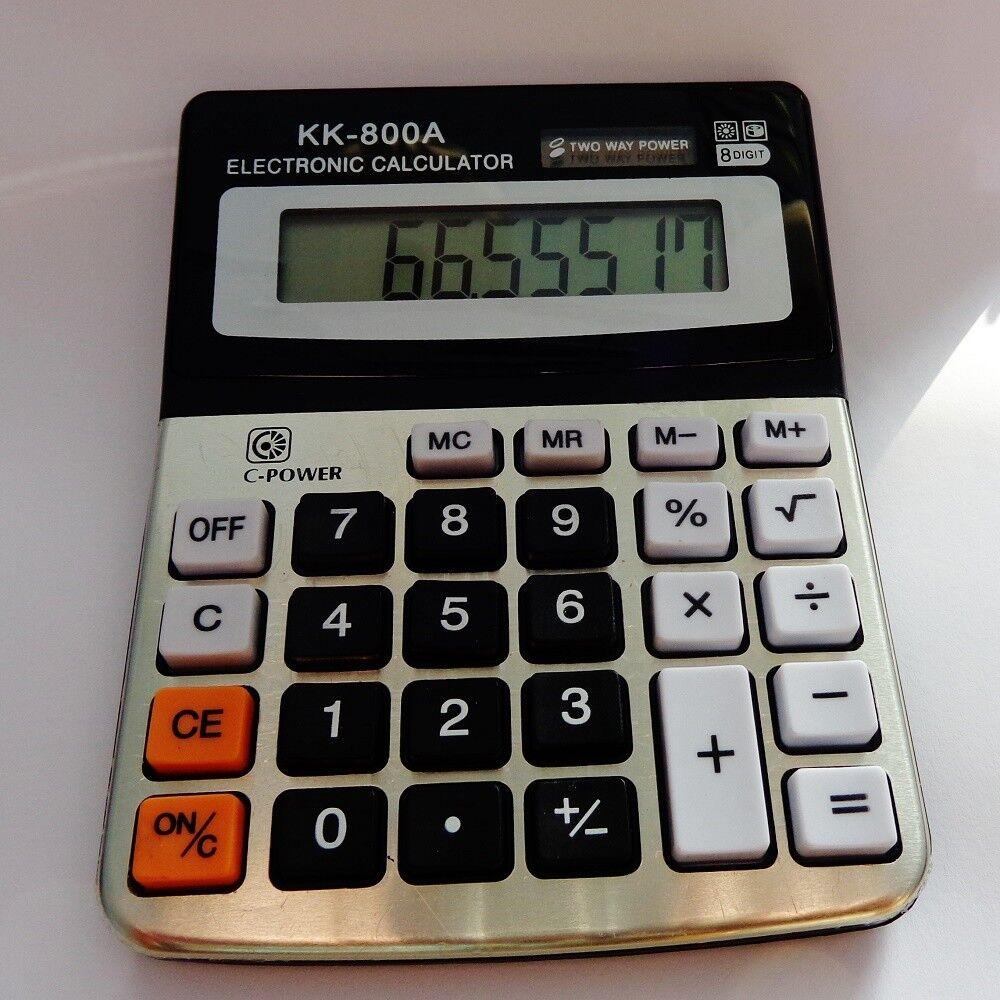 XL Taschenrechner große Tasten solar Tischrechner Bürorechner Rechner Calculator