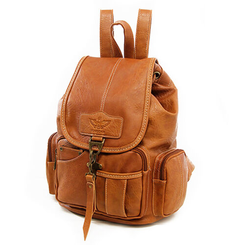 Vintage Womens Leather Backpack Shoulder School Shoulder Satchel HandBag Travel 10