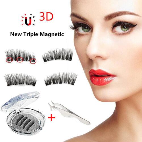 4 Stück 3D Magnetische Wimpern Magnete Künstliche Magnetic Eyelashes Ultra Dünn