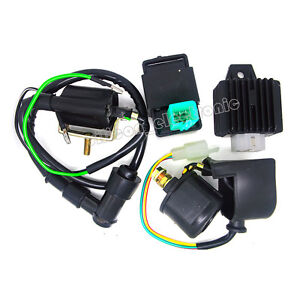 For Eton 4 Wheeler Wiring Harness 110cc Chinese Atv Parts Ebay