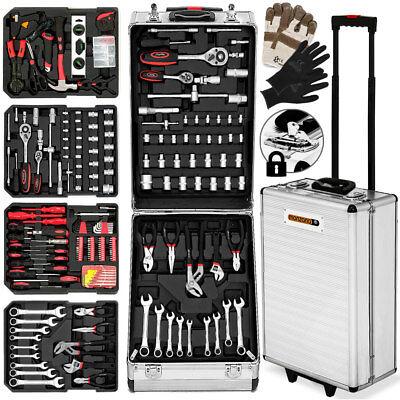 monzana® 929tlg Werkzeugkoffer Werkzeugkasten Werkzeugkiste Werkzeug Trolley