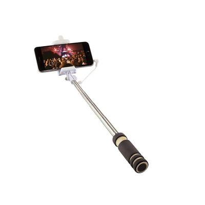LogiLink Mini Selfie Monopod Selfi Stick mit Auslöser für Handy Smartphone