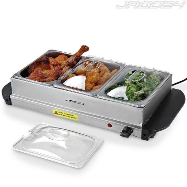 Electric Food Warmer Buffet Dish Server Hot Plate Tray