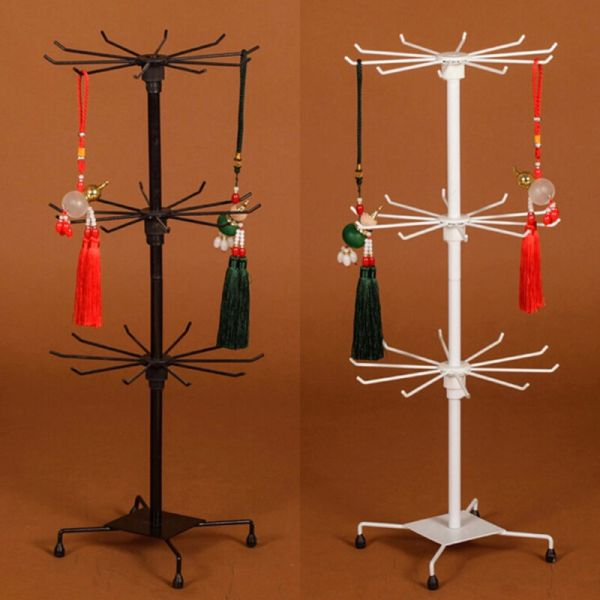 Rotating Iron 3-tier Revolving Stand Rack Jewelry Mobile
