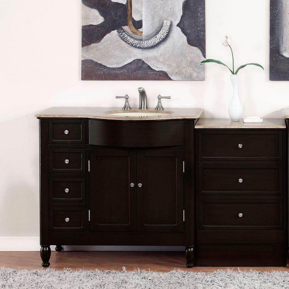 58 Travertine Top Single Bathroom Vanity Sink On The Right Hand Side 902t 609224900013 Ebay