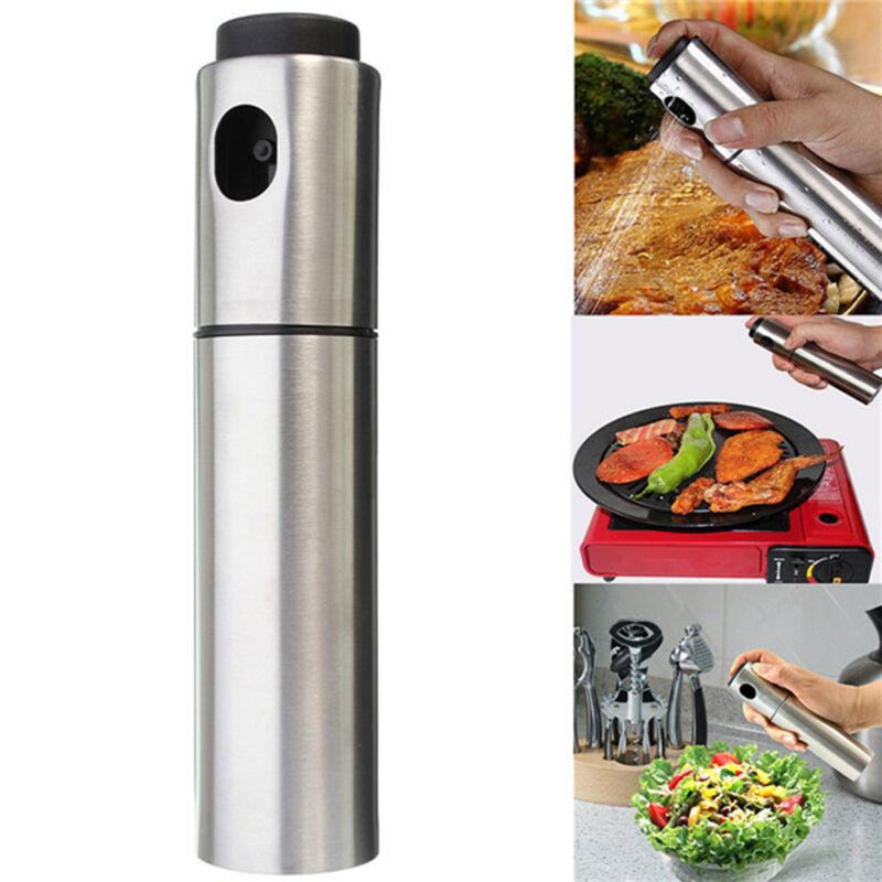 Nützliche Ölsprüher Edelstahl Flasche Küche Kochspray Spender Werkzeuge