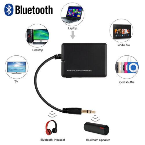 Neu 3.5mm Bluetooth Audio Sender Transmitter Stereo Musik Adapter für TV PC MP3
