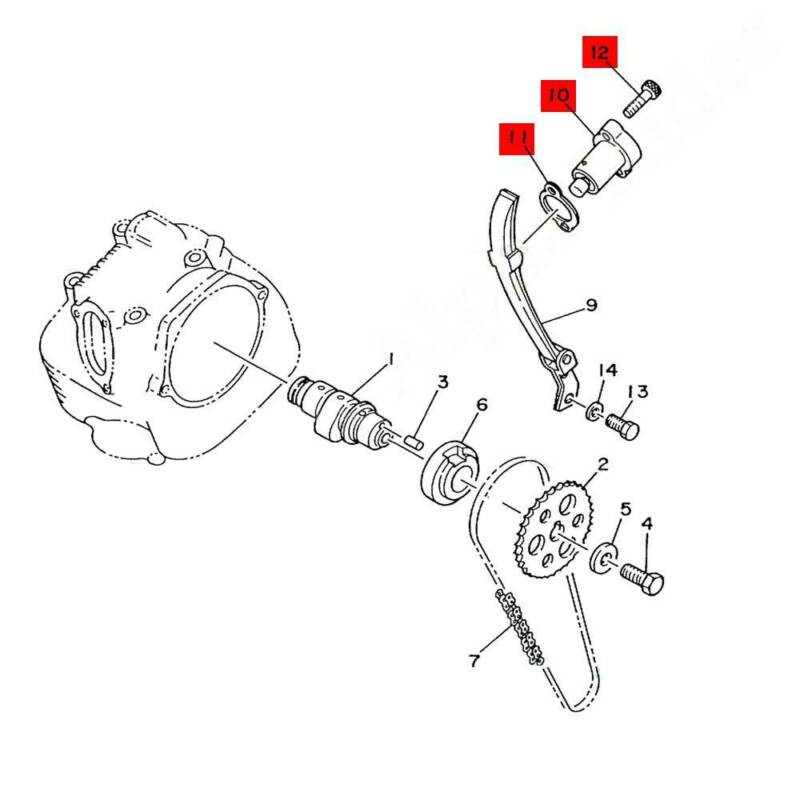 Timing Cam Chain Tensioner Manual Adjuster For Yamaha