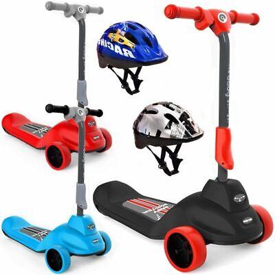 Elektroroller Elektroscooter elektrischer Kinderroller E-Scooter 3-6 Jahre +Helm