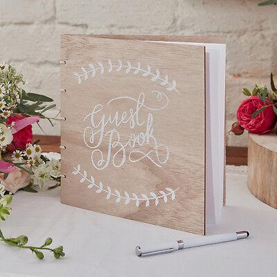Gästebuch 'Guest Book' Holz Boho natur - Hochzeitsalbum Hochzeitsgästebuch