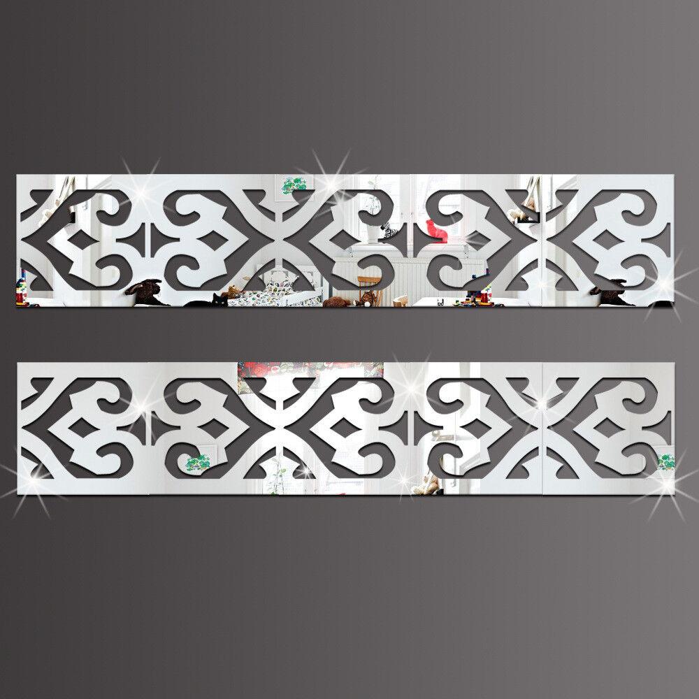 Spiegel Quadrate mit Ausschnitt 10er Set Borte Deko Kunststoff Ornament Dekor
