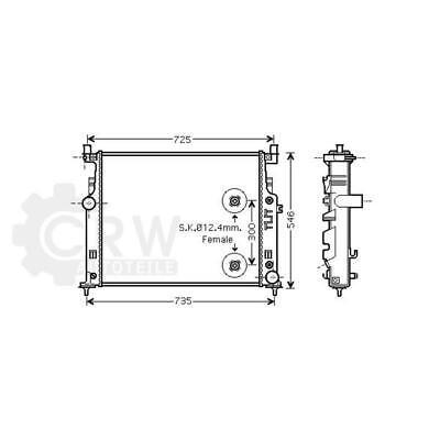 Wasserkühler für Mercedes W164 (ML)