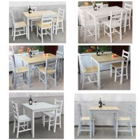 Dining Table and 2 Chairs/ 4 Chairs Set Wooden Furniture ...