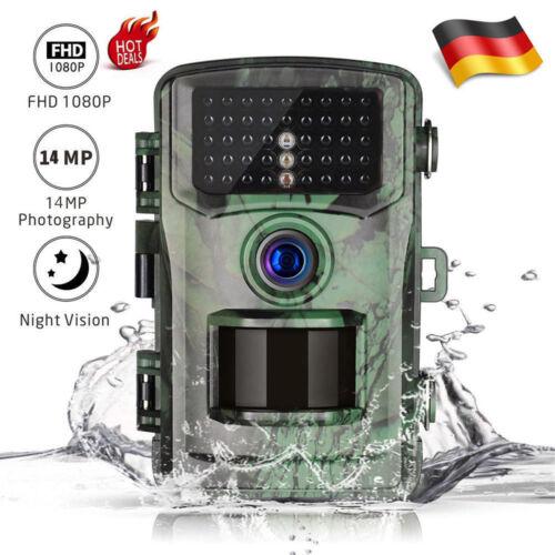 Wildkamera Überwachungskamera HD1080P 14MP Jagdkamera Fotofalle IR Nachtsicht DE