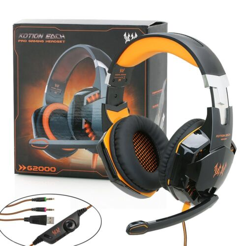 35mm LED Gaming Headset Headphones Surround For PC Laptop