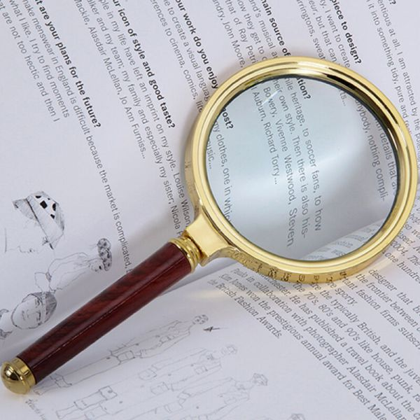 90mm Handheld Jewelry Classic 10x Magnifier Magnifying