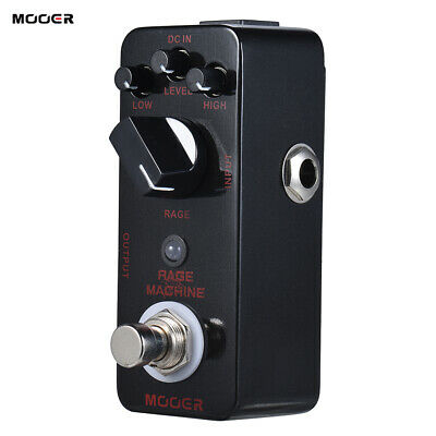 MOOER RAGE MACHINE Black Heavy Metal Distortion Electric Guitar Effect Pedal