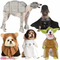 STAR WARS PET DOG FANCY DRESS COSTUME HALLOWEEN DARTH ...