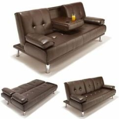 East London Sofa Cinema Bench Cushion Leather Bed Light Green Velvet In Good Condition Storage Space Brand New Comfy 3 Seater Style With Cupholder Black Brown