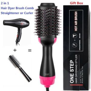 2 IN 1 MULTIFUNCTIONAL HAIR DRYER & VOLUMIZER HAIR BRUSH ROLLER COMB